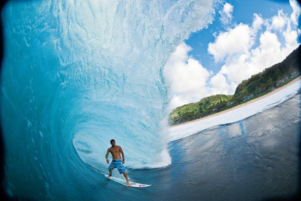 surfista como exemplo de spirulina para atletas