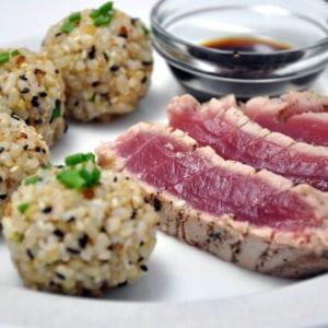 vitaminas do complexo B : arroz integral com atum