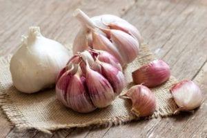 alimentos anti-inflamatórios : alho
