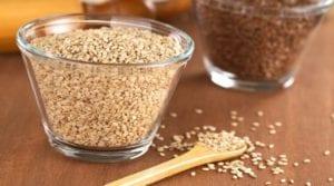 Alimentos ricos em cálcio : sementes de gergelim