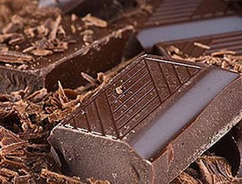 flora intestinal: chocolate amargo