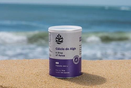 suplemento alimentar para o idosos: cálcio de alga