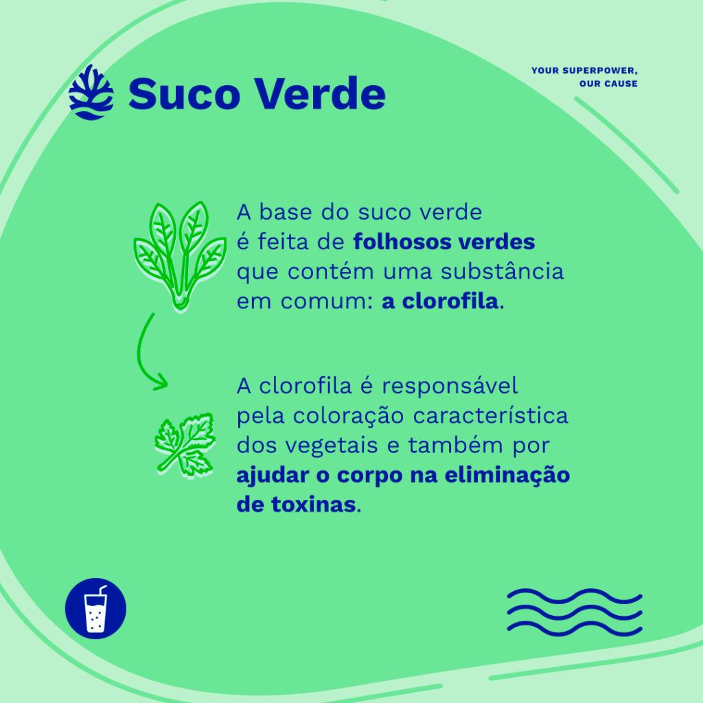 suco verde: infográfico